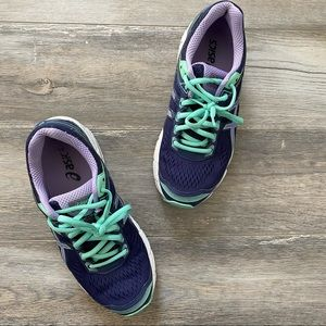 Women's ASICS Running Shoes Purple and Mint Green